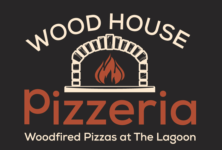 The Lagoon Restaurant and Guesthouse Woodfired Artisan Pizza Logo